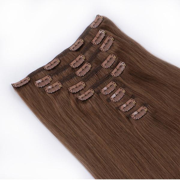 Chestnut Brown Light Auburn Citihair Clipin Extensions3 Human