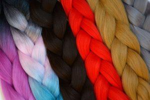 17 Artificial Colourful Hair Extensions for braiding-min